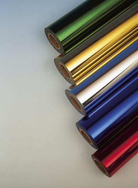 metaliczna folia barwiąca